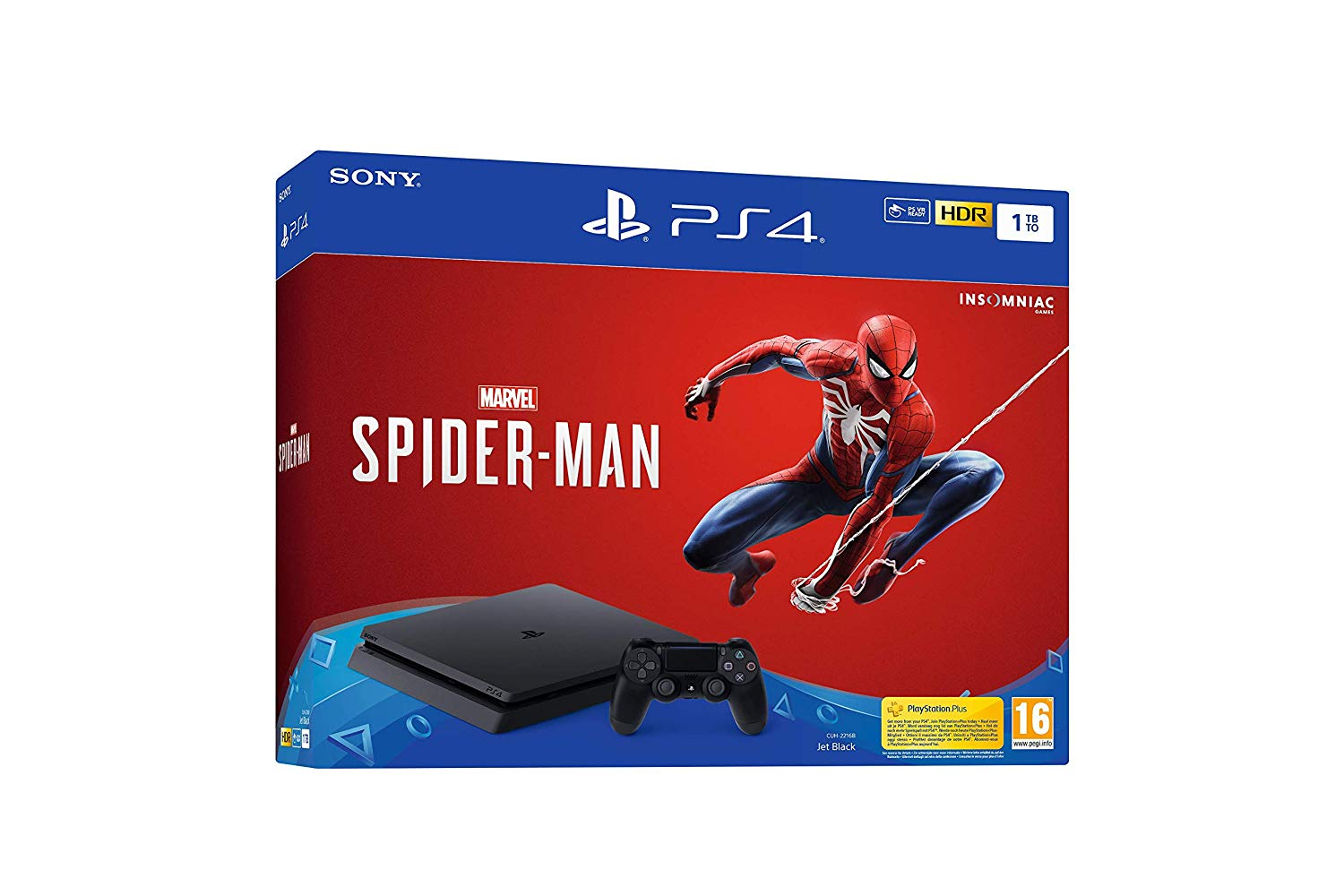 PS4 SLIM SPIDERMAN REGALA JUEGOS