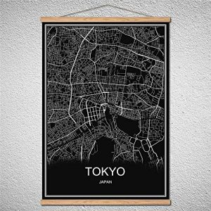 mapa de tokio decoracion pared